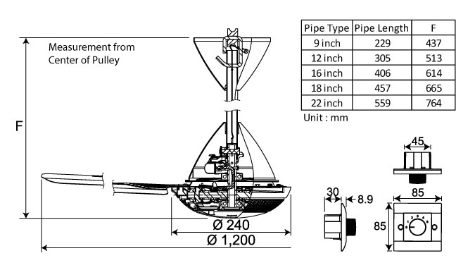 T48XC Dimension